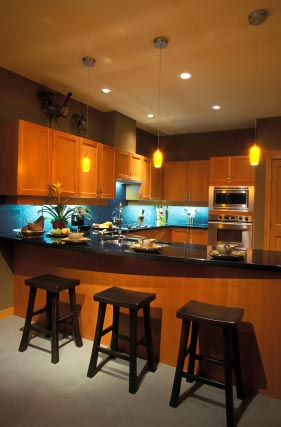 kitchen peninsula design